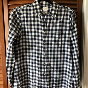 JCrew boyfit gingham Button down